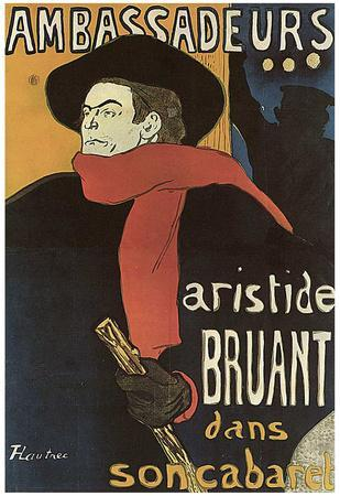 Henri de Toulouse-Lautrec (Bruant in Ambassadeurs) Art Poster Print