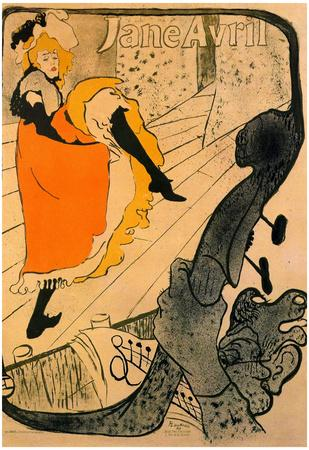 Henri de Toulouse-Lautrec Jane Avril Art Print Poster