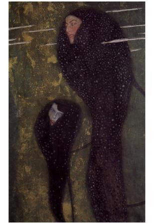 Gustav Klimt (Water Nymphs, Nixen) Art Poster Print