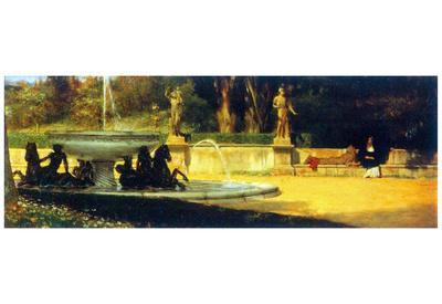 Lawrence Alma-Tadema Roman Garden Art Print Poster