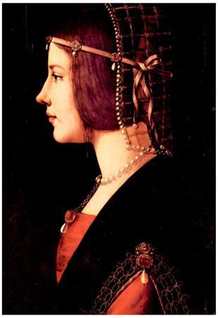 Leonardo Da Vinci Portrait of a Lady Beatrice d'Este Art Print Poster