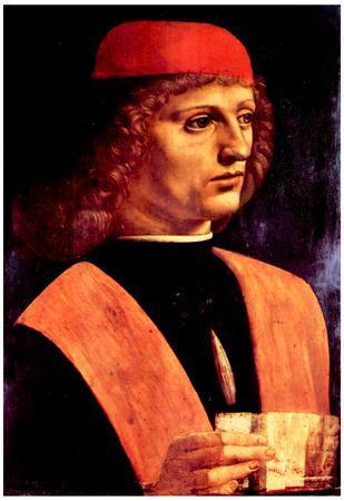 Leonardo Da Vinci Portrait of a Musician Art Print Poster