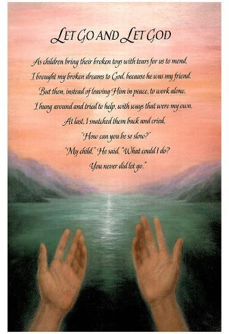 Let Go Let God Religious Motivational Poem Art Poster Posters At