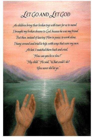 Let Go Let God Religious Motivational Poem Art Poster Posters At