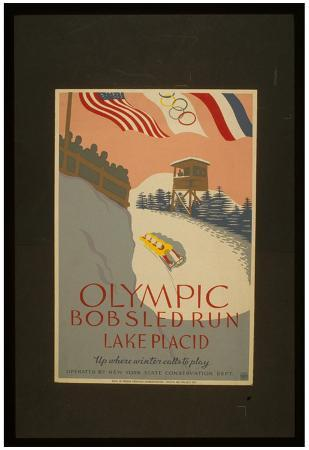 Lake Placid (Olympic Bobsled Run) Art Poster Print