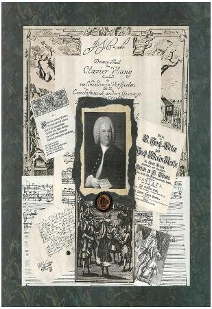 Linda Jade Charles JS Bach composer Art Print Poster