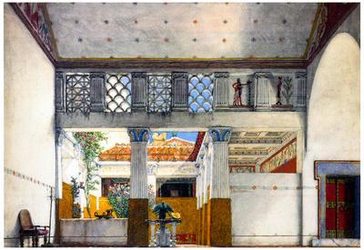 Lawrence Alma-Tadema Establishment of Caius Martius' House Art Print Poster