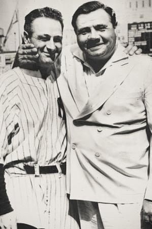 Lou Gehrig and Babe Ruth New York Yankees Archival Photo Sports Poster Print