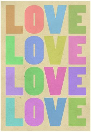 Love Pop-Art Pastel Art Print Poster
