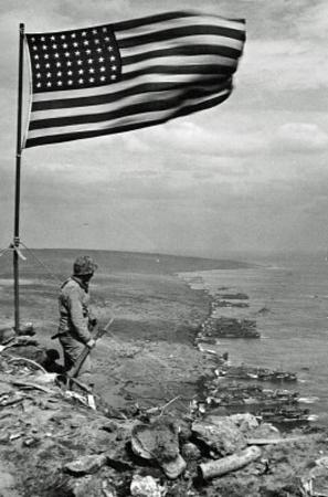 Iwo Jima WWII Archival Photo Poster Print