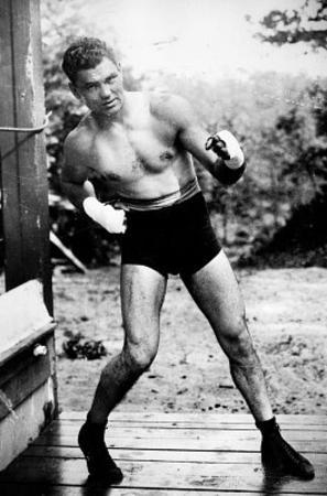 Jack Dempsey Boxing Pose Archival Photo Sports Poster Print