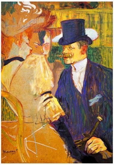 Henri De Toulouse Lautrec Study For The Flirt Englishman In The Moulin Rouge Art Print Poster Posters Allposters Com