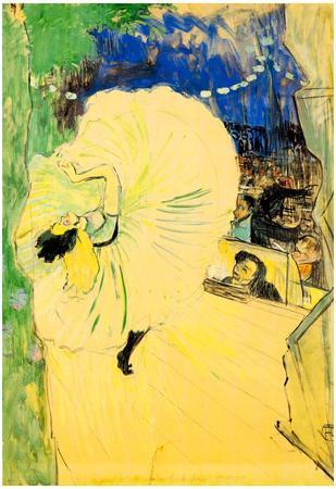 Henri de Toulouse-Lautrec The Coil Art Print Poster