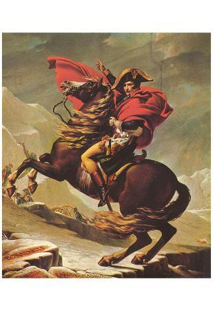 Jacques-Louis David (Napoleon Crossing the Alps) Art Poster Print