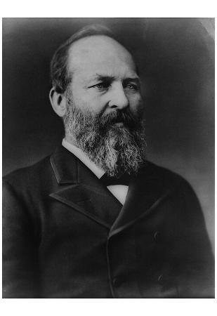 James A Garfield (Portrait) Art Poster Print