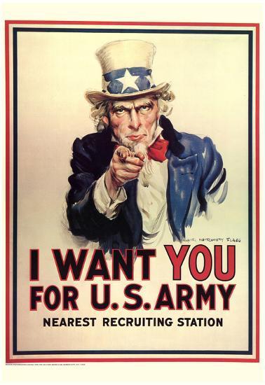 i want you for u s army uncle sam wwii war propaganda art print