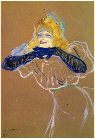 Henri de Toulouse-Lautrec Yvette Guilbert Sings Art Print Poster