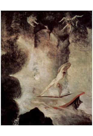 Johann Heinrich Fuseli (Odysseus before Scilla and Charybdis) Art Poster Print