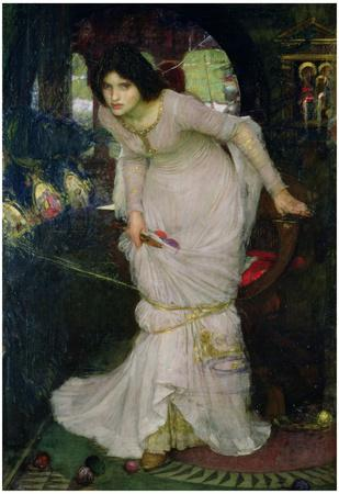 John William Waterhouse Lady of Shallot Art Print Poster