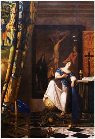 Johannes Vermeer Allegory of the Faith Art Print Poster