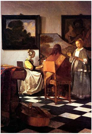 Johannes Vermeer Musical Trio Art Print Poster