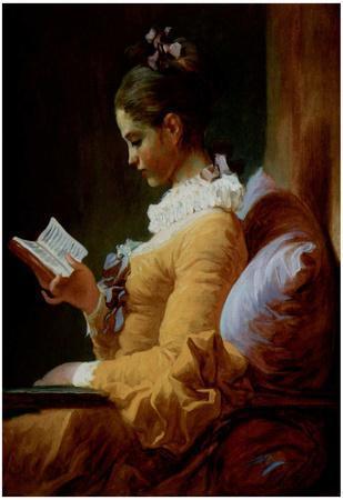 Jean-Honoré Fragonard (Reading woman) Art Poster Print