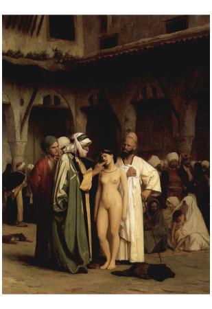 Jean-Léon GEROME (The slave market) Art Poster Print
