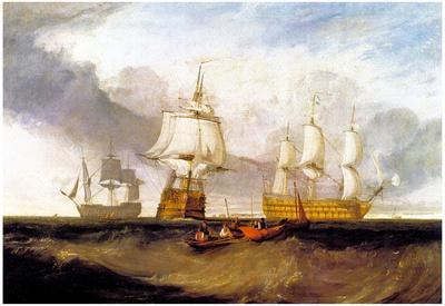 Joseph Mallord Turner Victory in Trafalgar Art Print Poster