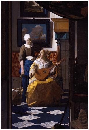 Johannes Vermeer The Love Letter Art Print Poster