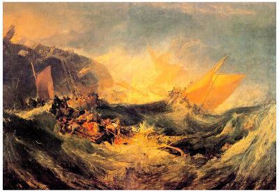 Joseph Mallord Turner Wreck of a Transport Ship Art Print Poster