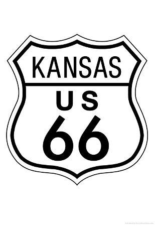 Kansas Route 66 Sign Art Poster Print