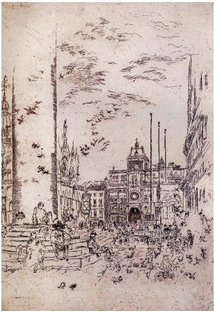 James Whistler The Piazzetta Art Print Poster