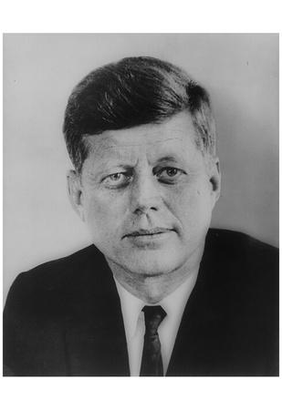 John F Kennedy (Portrait) Art Poster Print
