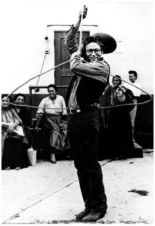 James Dean Lasso Archival Photo Movie Poster Print