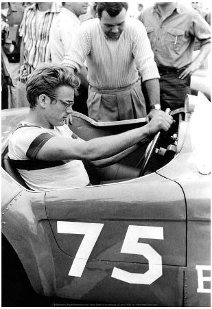 James Dean Racing Archival Photo Movie Poster Print