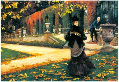 James Tissot The Letter came in Handy Art Print Poster
