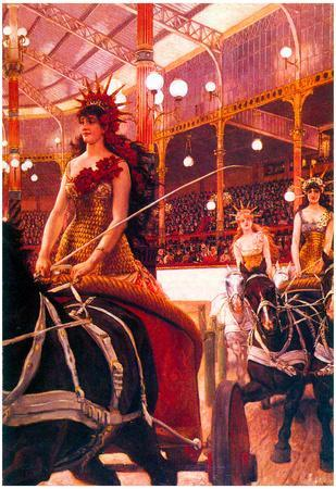 James Tissot The Women in the Cars Art Print Poster