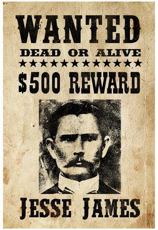 jesse james wanted advertisement print poster posters at allposters com