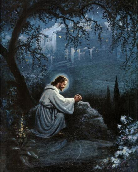 Jesus Agony In The Garden Art Poster Print Posters