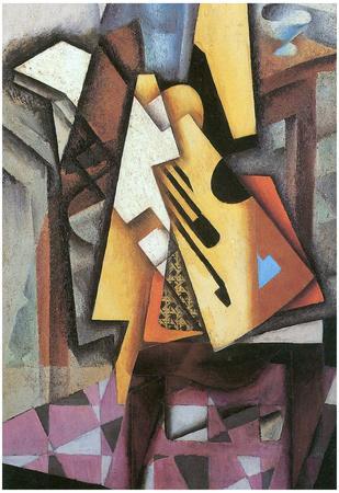 Juan Gris Guitar and Stool Cubism Art Print Poster