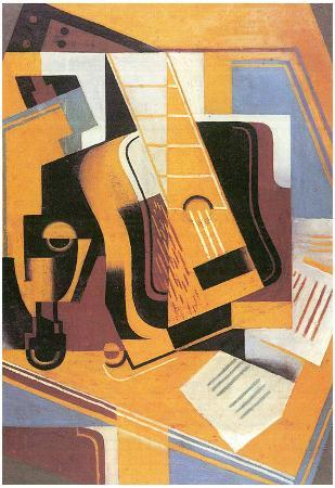 Juan Gris Guitar Cubism Art Print Poster