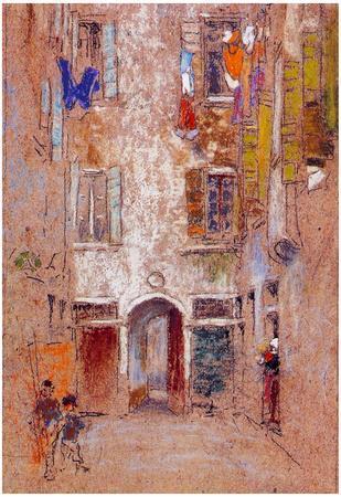 James Whistler Corte del Paradiso Art Print Poster