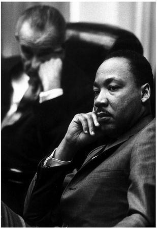 Martin Luther King Jr (With President Lyndon B Johnson) Art Poster Print