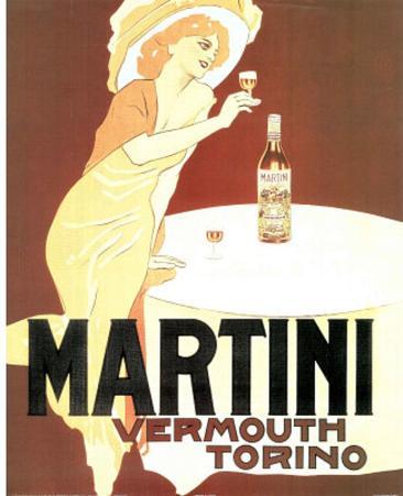 Martini Vermouth Torino Vintage Ad Art Print Poster