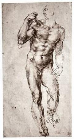 Michelangelo Buonarroti (Standing male nude, front view) Art Poster Print