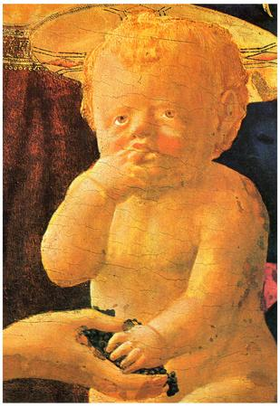 Masaccio St Anne Central Table The Virgin and Child Detail of the Child Art Print Poster