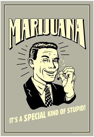 Marijuana Special Kind Of Stupid Funny Retro Poster
