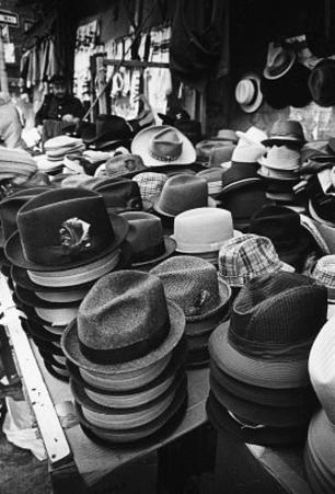 New York City Hat Store Archival Photo Poster Print
