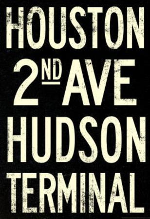New York City Houston Hudson Vintage Subway RetroMetro Poster