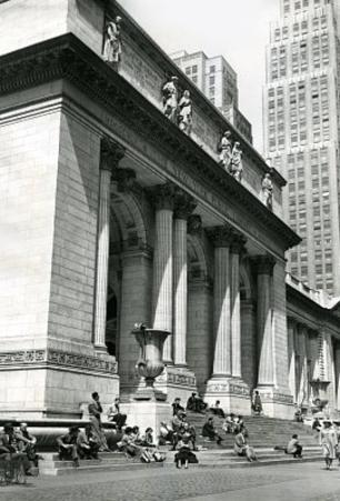 New York City Public Library 1950 Archival Photo Poster Print